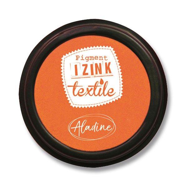 Školní a výtvarné potřeby - Razítkovací polštářek Izink Textile oranžová