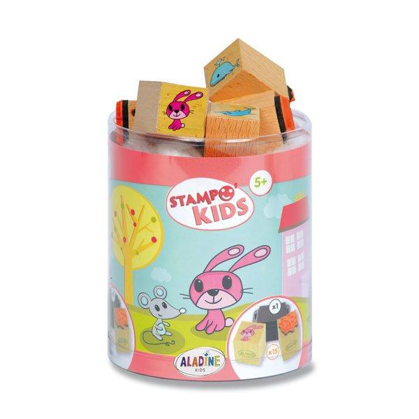 Školní a výtvarné potřeby - Razítka Aladine Stampo Kids - Myška Lily a její kamarádi