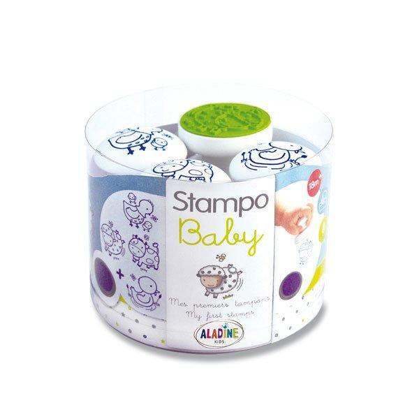 Školní a výtvarné potřeby - Razítka Aladine Stampo Baby - Zvířátka na dvorku
