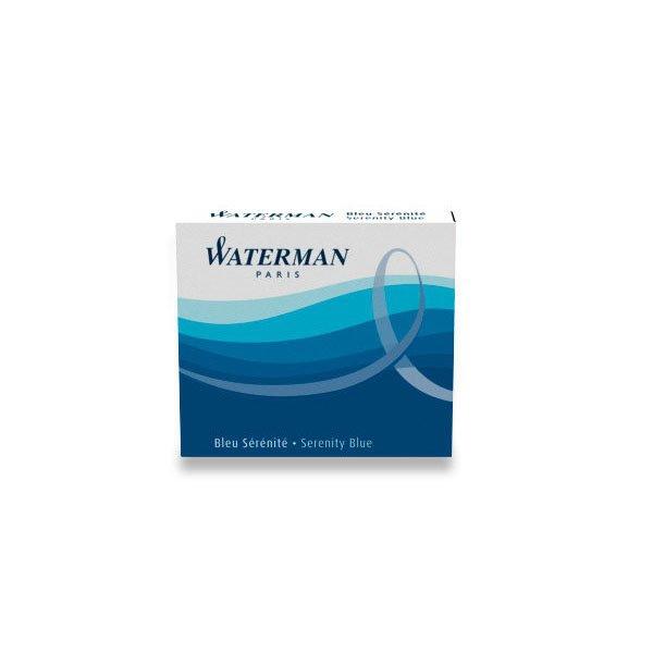 Psací potřeby - Inkoustové bombičky Waterman krátké modré, omyvatelné