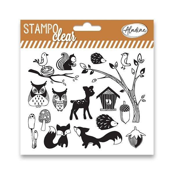 Školní a výtvarné potřeby - Razítka gelová Stampo Clear - Lesní zvířátka