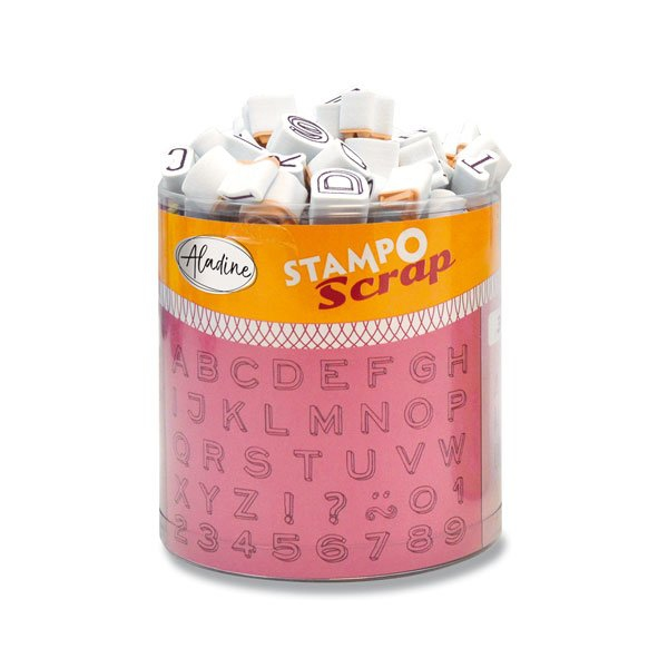 Školní a výtvarné potřeby - Razítka Stampo Scrap - Tři mini abecedy