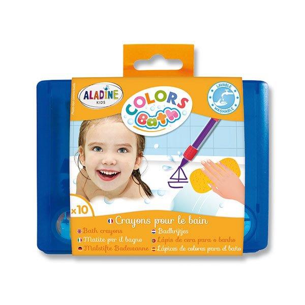 Psací potřeby - Voskové pastelky AladinE do vany 10 barev