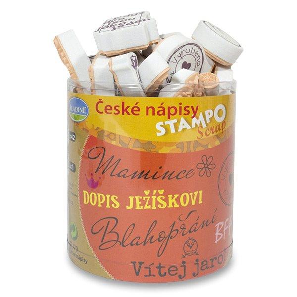 Školní a výtvarné potřeby - Razítka Stampo Scrap - České nápisy