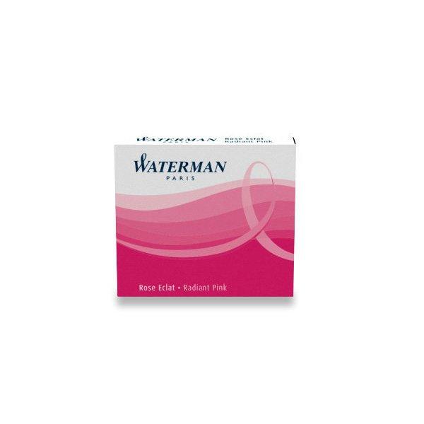 Psací potřeby - Inkoustové bombičky Waterman krátké růžové