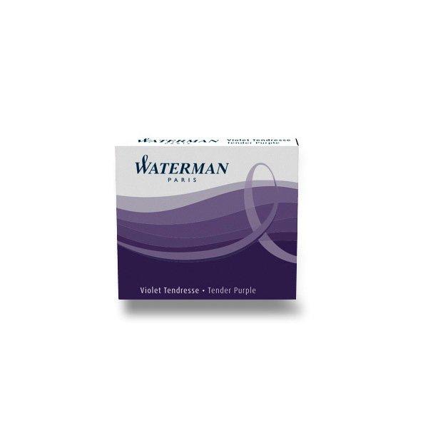 Psací potřeby - Inkoustové bombičky Waterman krátké fialové
