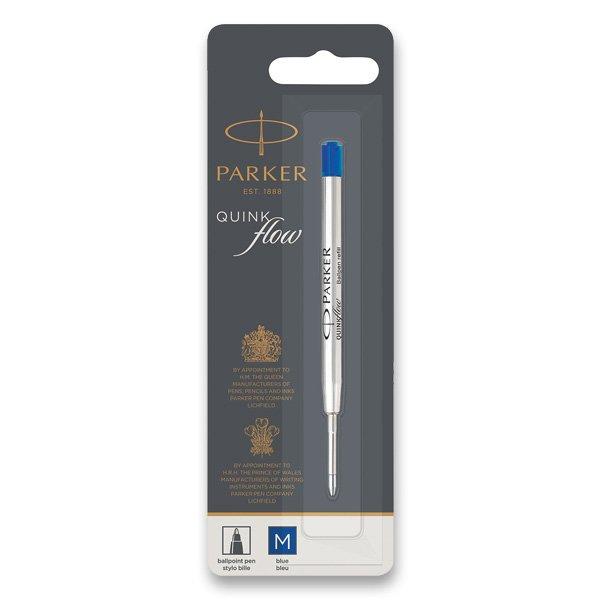Psací potřeby - Náplň Parker QuinkFlow do kuličkové tužky modrá, M