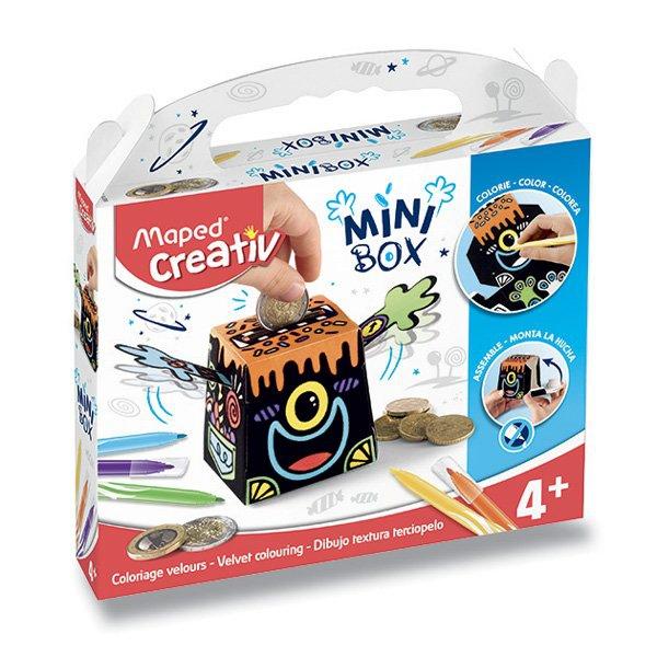 Školní a výtvarné potřeby - MiniBox Maped Creativ Sametové malování pokladnička