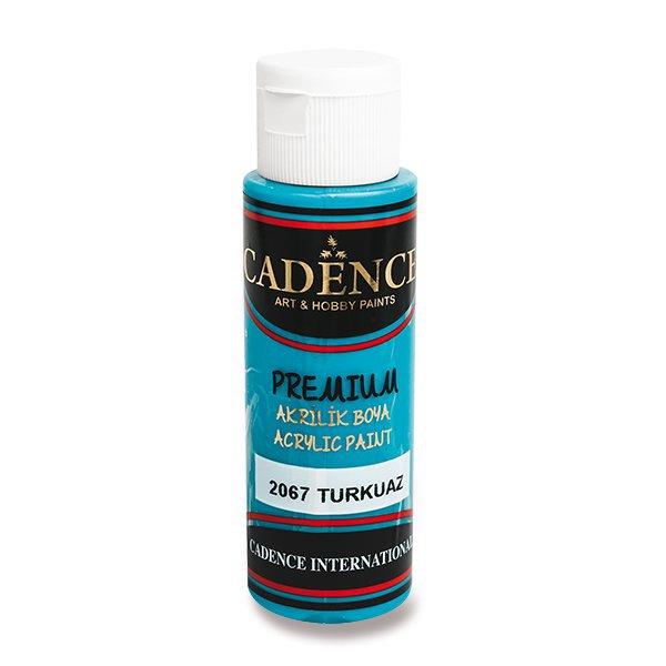 Školní a výtvarné potřeby - Akrylové barvy Cadence Premium tyrkysová