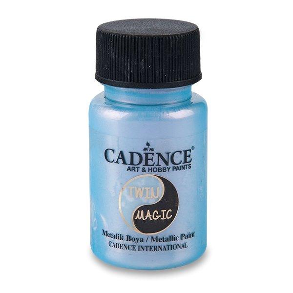 Školní a výtvarné potřeby - Metalická barva Cadence Twin Magic modrá/červ.