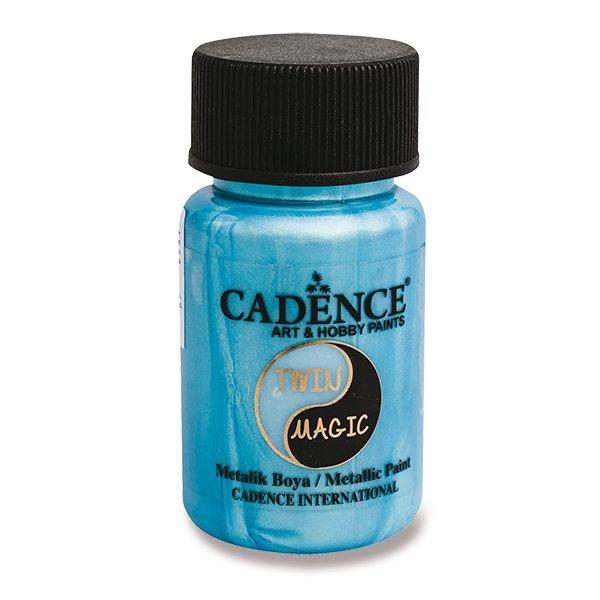 Školní a výtvarné potřeby - Metalická barva Cadence Twin Magic zel./modrá