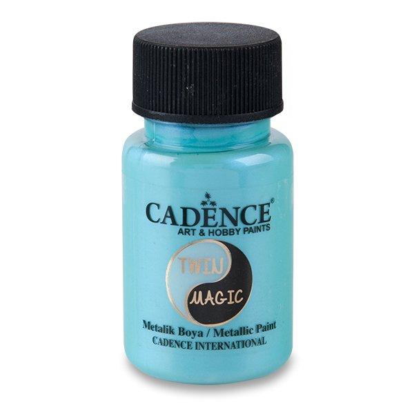 Školní a výtvarné potřeby - Metalická barva Cadence Twin Magic modrá/zel.