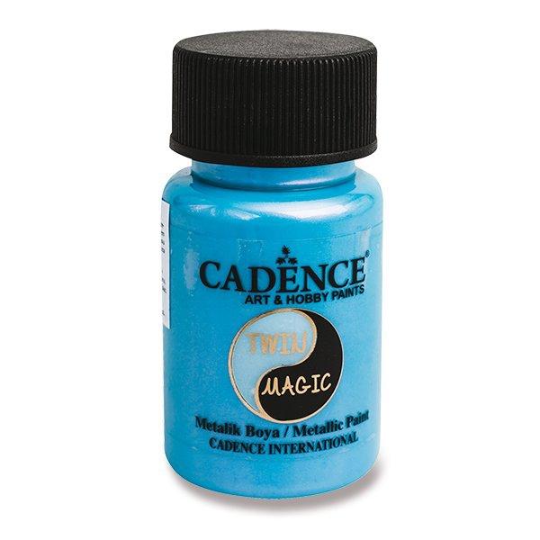 Školní a výtvarné potřeby - Metalická barva Cadence Twin Magic fial./modrá