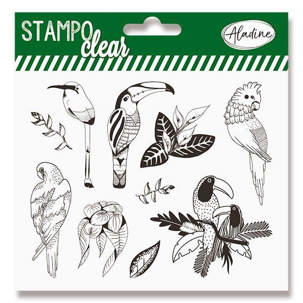 Školní a výtvarné potřeby - Razítka gelová Stampo Clear Tropičtí ptáci