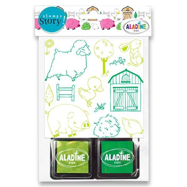 Školní a výtvarné potřeby - Razítka Aladine Stampo Story Farma