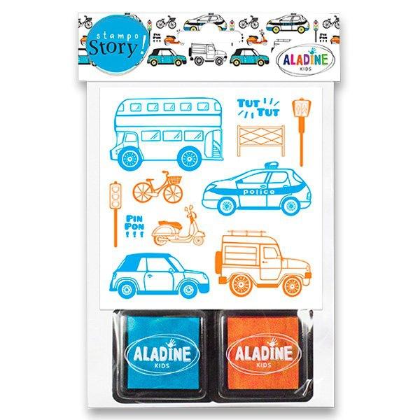 Školní a výtvarné potřeby - Razítka Aladine Stampo Story Dopravní prostředky