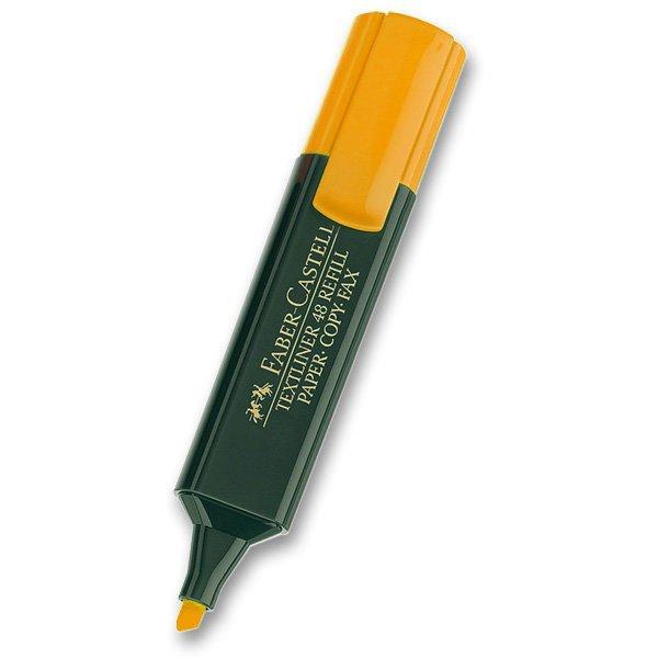 Psací potřeby - Zvýrazňovač Faber-Castell Textliner 1548 oranžový