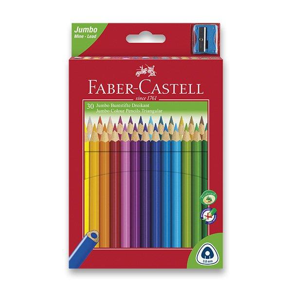 Psací potřeby - Pastelky Faber-Castell Junior Triangular 30 barev + ořezávátko