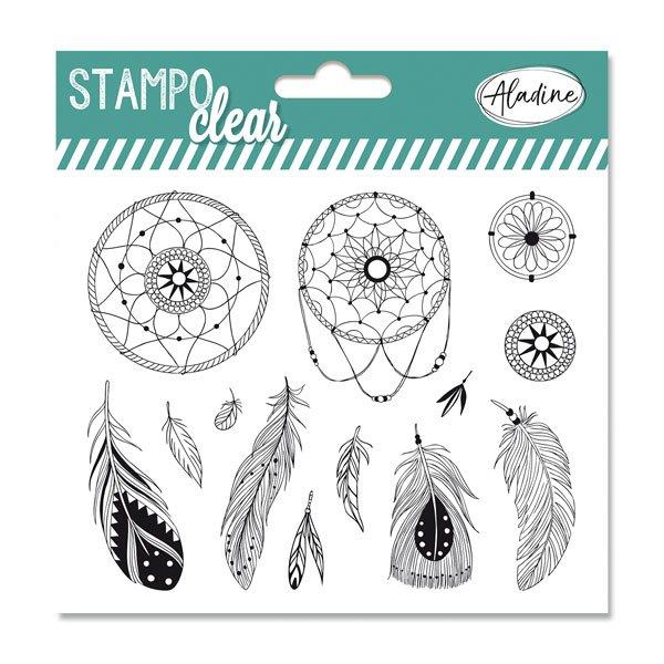 Školní a výtvarné potřeby - Razítka gelová Stampo Clear - Lapač snů