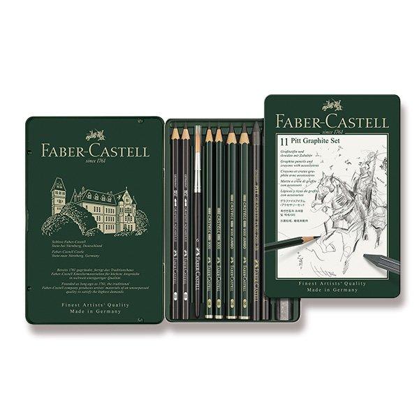 Psací potřeby - Grafitová tužka Faber-Castell Pitt Monochrome Graphite sada 11 kusů