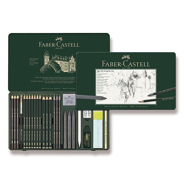 Psací potřeby - Grafitová tužka Faber-Castell Pitt Monochrome Graphite sada 26 kusů
