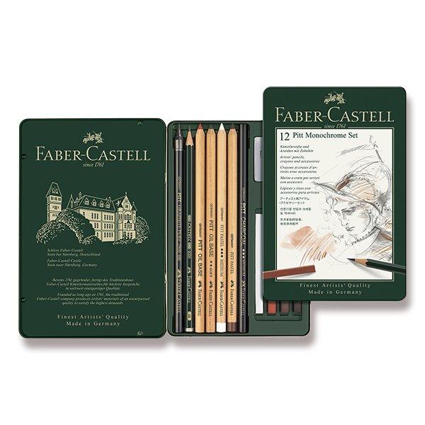 Psací potřeby - Grafitová tužka Faber-Castell Pitt Monochrome sada 12 kusů