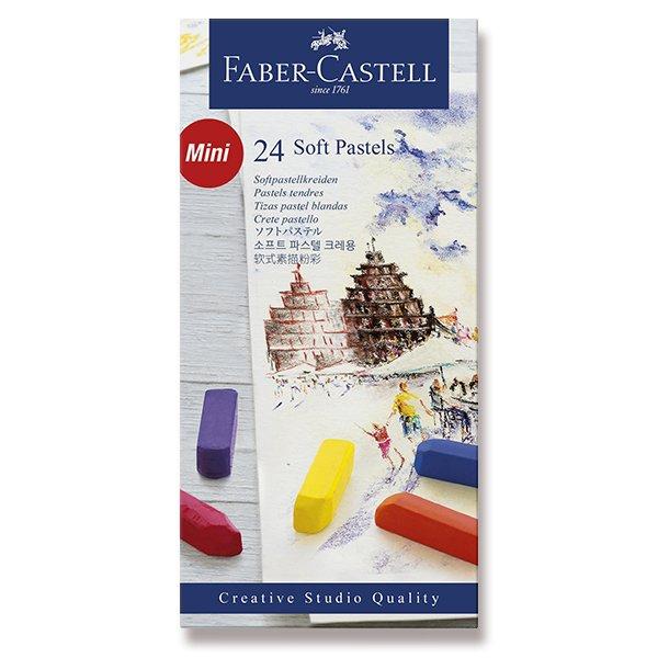 Psací potřeby - Pastelové křídy Faber-Castell Mini 24 barev