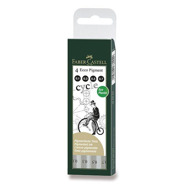 Psací potřeby - Popisovač Faber-Castell Ecco Pigment sada 4 ks, černé