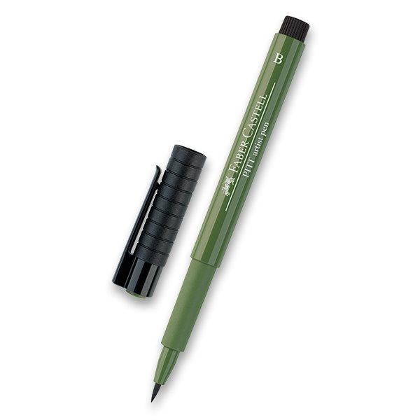 Psací potřeby - Popisovač Faber-Castell Pitt Artist Pen Brush - zelené odstíny 174