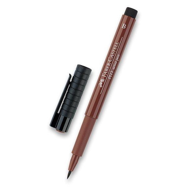 Psací potřeby - Popisovač Faber-Castell Pitt Artist Pen Brush - hnědé a metalické 169