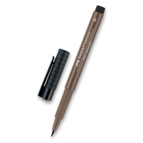 Psací potřeby - Popisovač Faber-Castell Pitt Artist Pen Brush - hnědé a metalické 177