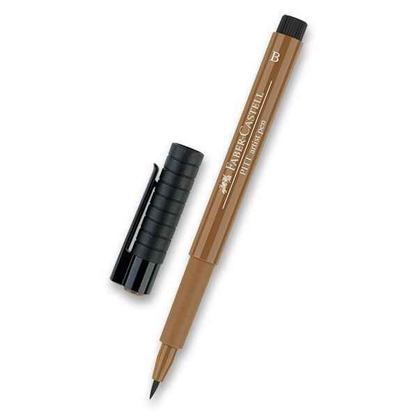 Psací potřeby - Popisovač Faber-Castell Pitt Artist Pen Brush - hnědé a metalické 180