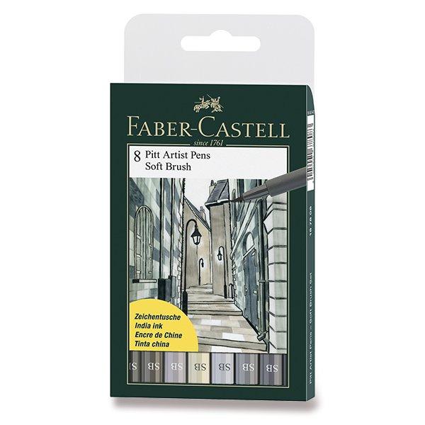 Psací potřeby - Popisovač Faber-Castell Pitt Artist Pen Soft Brush 8 kusů