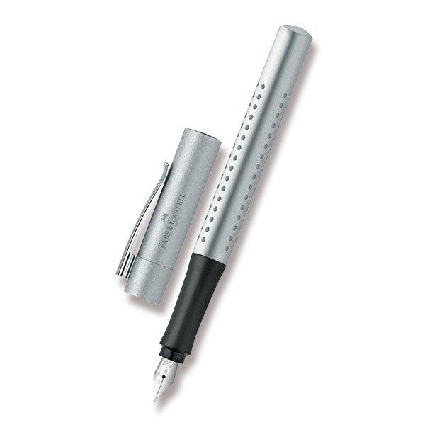 Psací potřeby - Plnicí pero Faber-Castell Grip 2011 stříbrné