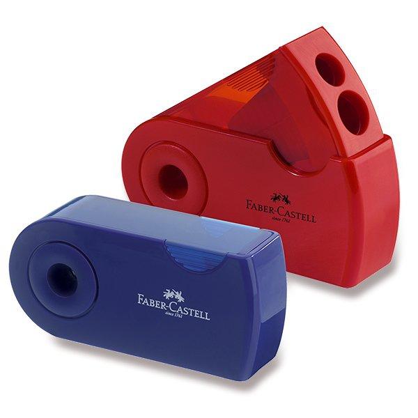 Psací potřeby - Ořezávátko Faber-Castell  Sleeve 2 otvory, mix barev