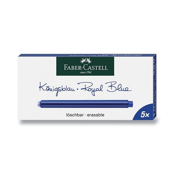 Psací potřeby - Inkoustové bombičky Faber-Castell - dlouhé modré