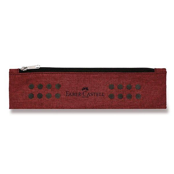 Psací potřeby - Pouzdro Faber-Castell Grip Melange tmavě červené