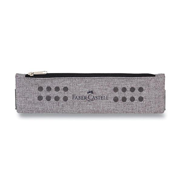 Psací potřeby - Pouzdro Faber-Castell Grip Melange šedé