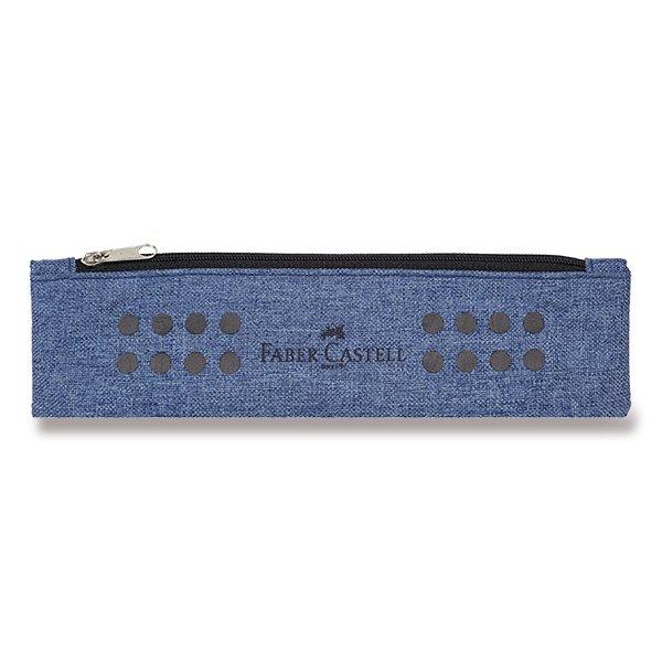 Psací potřeby - Pouzdro Faber-Castell Grip Melange modré