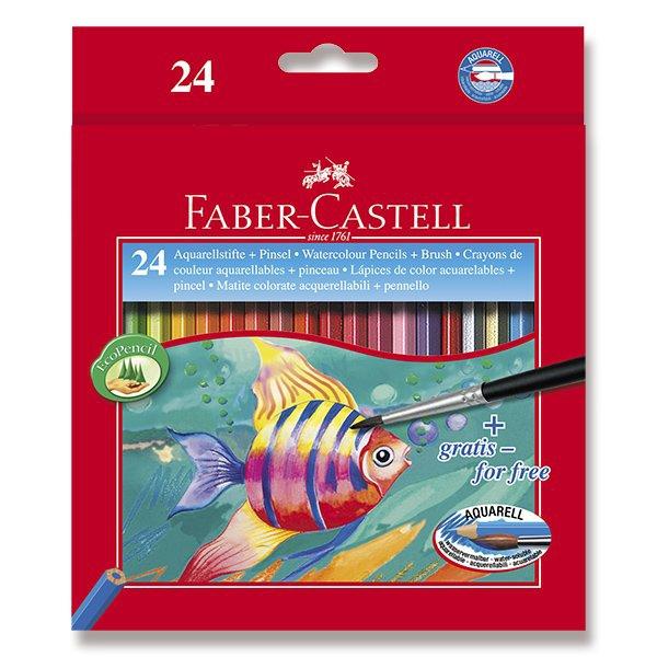 Psací potřeby - Akvarelové pastelky Faber-Castell 24 barev + štětec