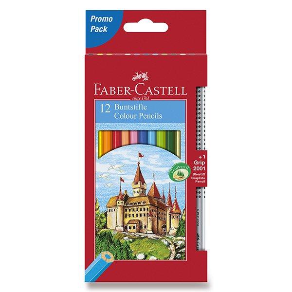 Psací potřeby - Pastelky Faber-Castell 12 barev + grafitová tužka
