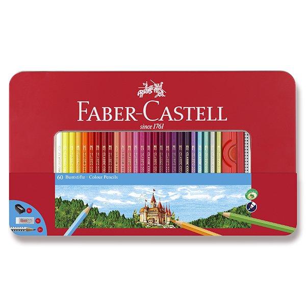 Psací potřeby - Pastelky Faber-Castell 60 barev + příslušenství