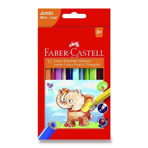 Psací potřeby - Pastelky Faber-Castell  Extra Jumbo 12 barev
