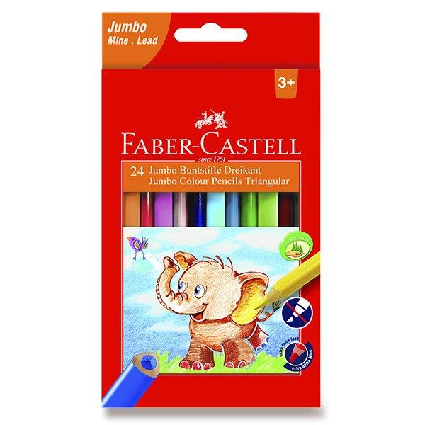 Psací potřeby - Pastelky Faber-Castell  Extra Jumbo 24 barev + ořezávátko