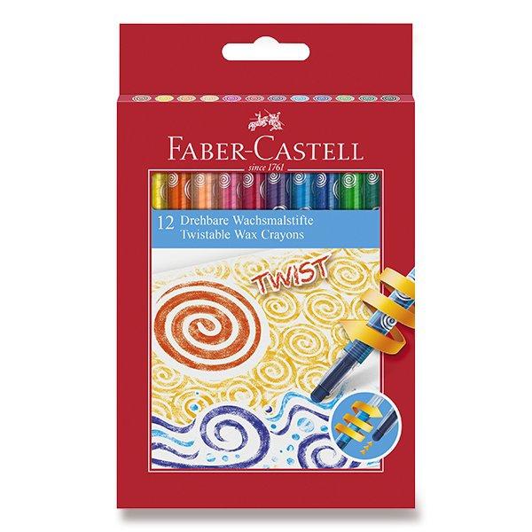 Psací potřeby - Voskovky Faber-Castell Twist 12 barev