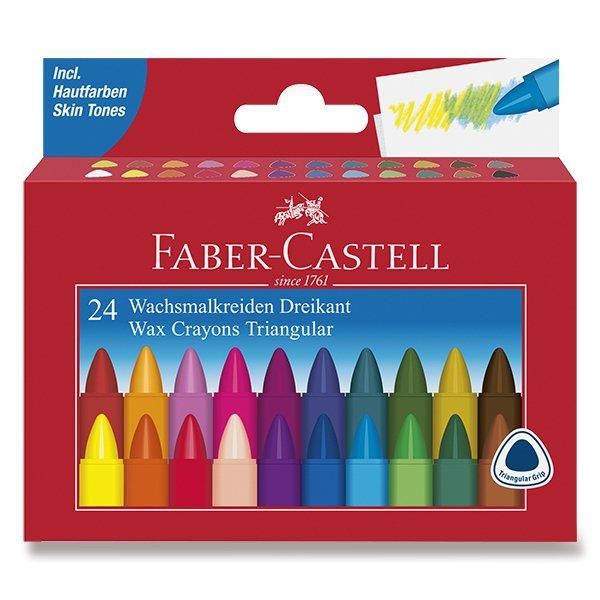 Psací potřeby - Voskovky Faber-Castell trojhranné 24 barev