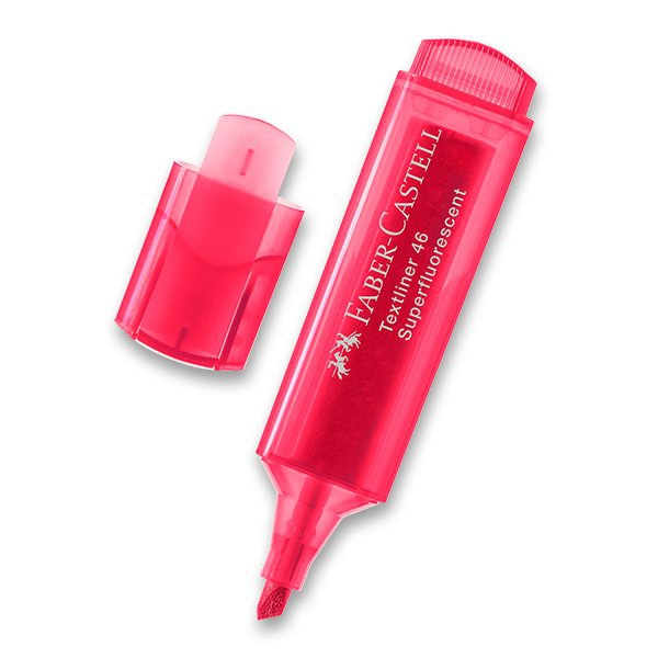 Psací potřeby - Zvýrazňovač Faber-Castell Textliner 1546 červený
