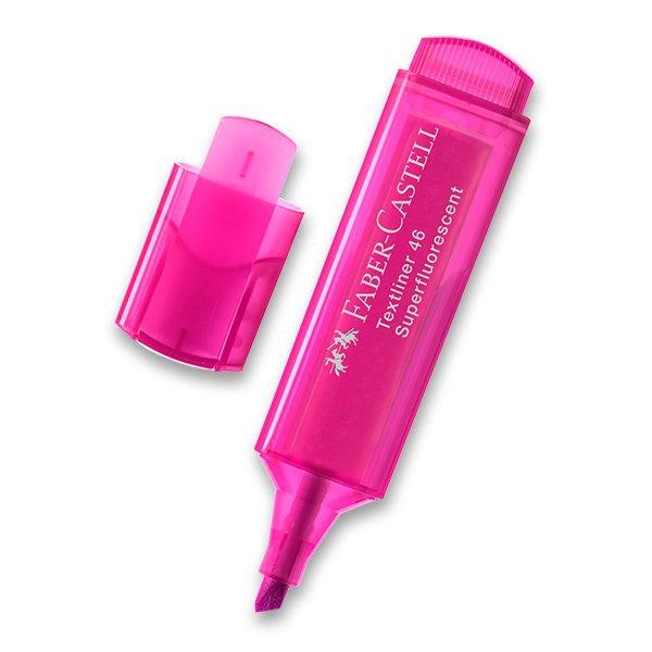 Psací potřeby - Zvýrazňovač Faber-Castell Textliner 1546 růžový