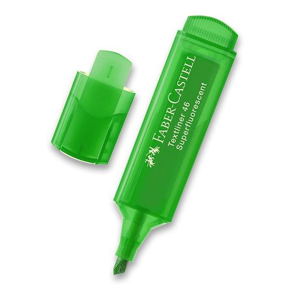 Psací potřeby - Zvýrazňovač Faber-Castell Textliner 1546 zelený