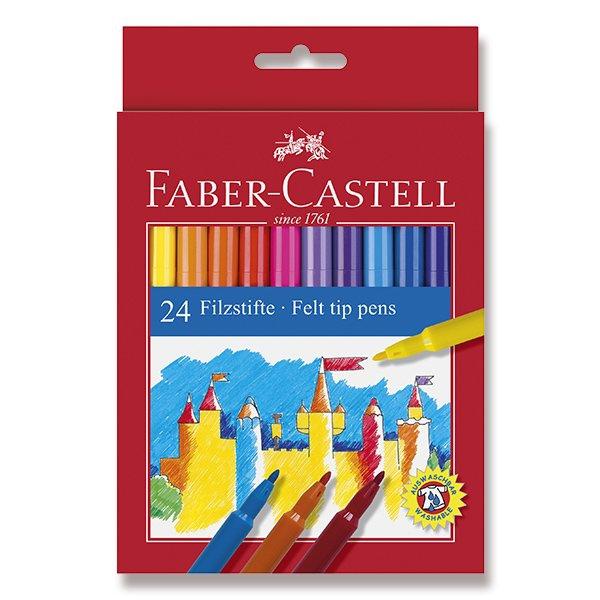 Psací potřeby - Dětské fixy Faber-Castell 24 barev